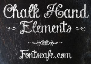 chalk board font chalk hand elements