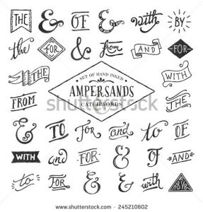 chalk board fonts stock vector hand lettered ampersands and catchwords