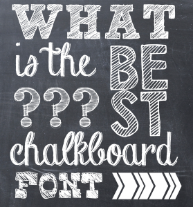 chalk lettering font best chalkboard fonts