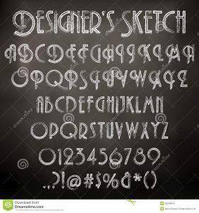 chalk lettering font vector chalk sketched font illustration characters blackboard background