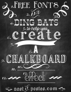 chalkboard font free free fonts and ding bats for chalkboard graphics and effect