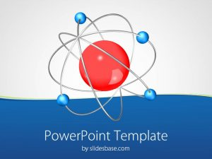chalkboard powerpoint template datom chemistry science molecular physics neutron proton powerpoint template slide