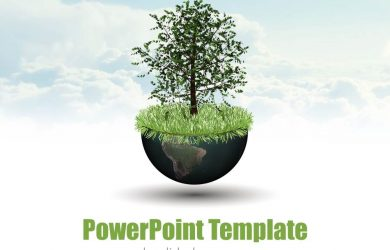 chalkboard powerpoint template world growth global economy d world globe tree nature business powerpoint template plant slide