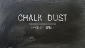 chalkboard ppt template chalkdust extradustyblack