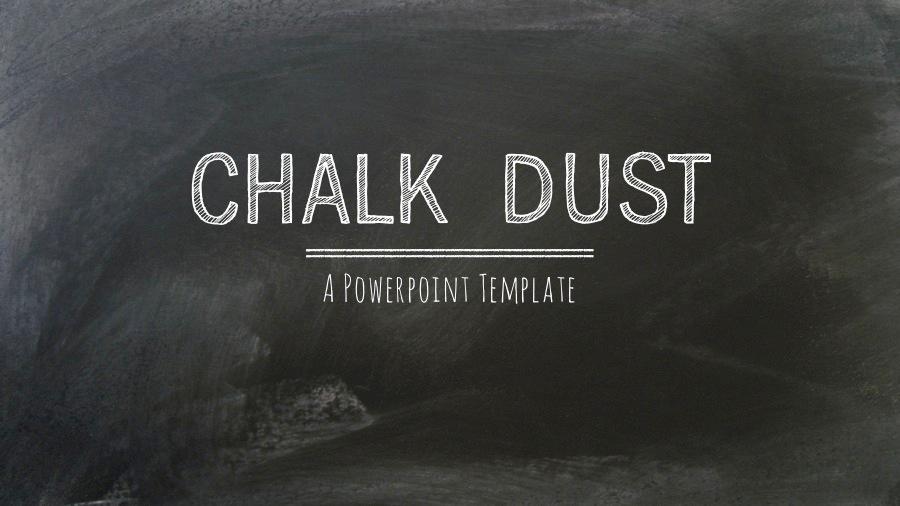 chalkboard ppt template