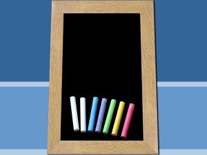 chalkboard ppt template mclkkca