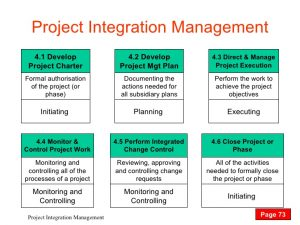 change management plan template ed p project integration management