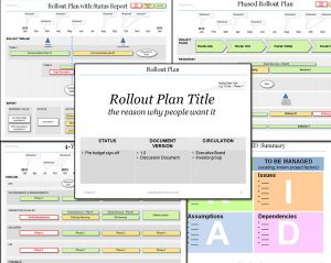 change management plans templates rollout plan