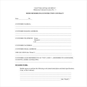 change order form residential construction change order form