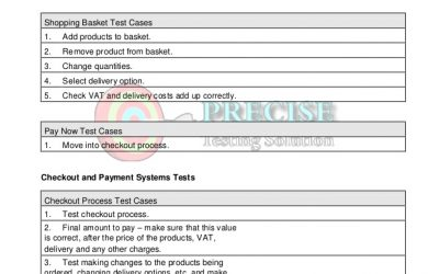 change order form template ecommerce website testing checklist