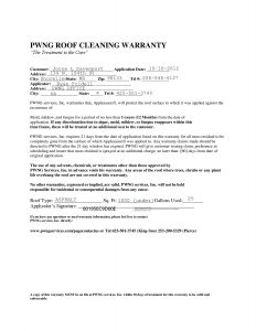 change order request form roof cleaning warranty page
