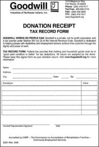 charitable donation letter template goodwill clothing donation receipt