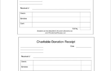 charitable donation receipt charitable donation receipt doc download