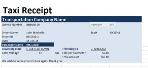 charitable donation receipt template taxi receipt template image