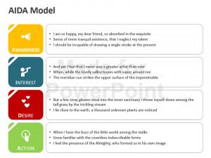 check register templates aida diagram powerpoint slide