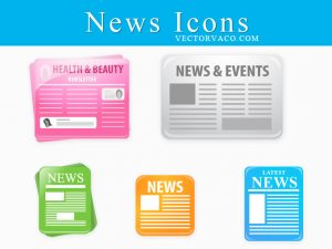 check register templates news icons free vector