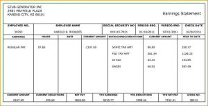 check stub template free paycheck stub generator sample payroll generator stub