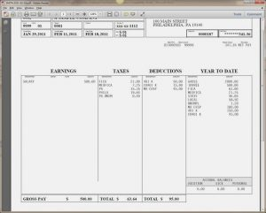 check stub template payroll check stub template word