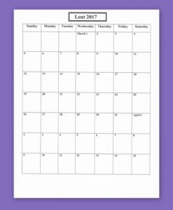 check template pdf lent box calendar collage resized