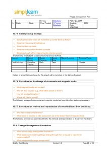 check template word project management plan template
