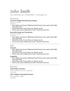 check template word resume template