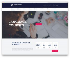 check template word upside multipurpose education wordpress website template