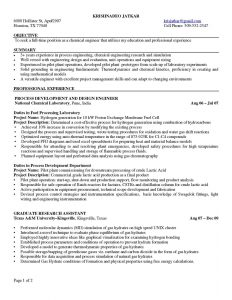 chemical engineer resume chemical engineering resume for a job resume of your resume
