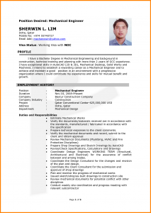 chemical engineering resume mechanical engineering cv sample hvac mechanical engineer cv sample