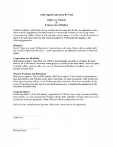 child support agreement template child support agreement template x