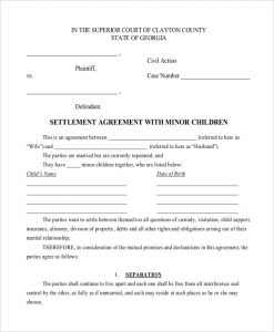 child support agreement template child support settlement agreement template