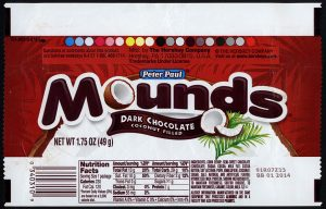 choc bar wrappers cc hershey peter paul mounds dark chocolate candy bar wrapper