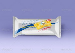 chocolate bar wrapper candy foil packaging mockup
