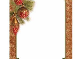 christmas border paper m