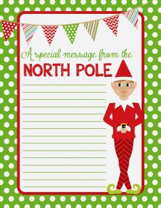 christmas borders for letters free printable elf on shelf paper