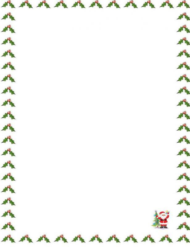 christmas borders for letters