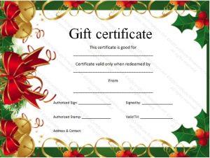 christmas gift certificate printable gift certificates certificate templates with christmas gift certificate template powerpoint