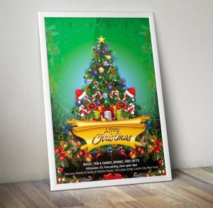 christmas invitation template free christmas flyer psd