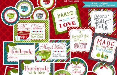 christmas label templates baking stylesheet