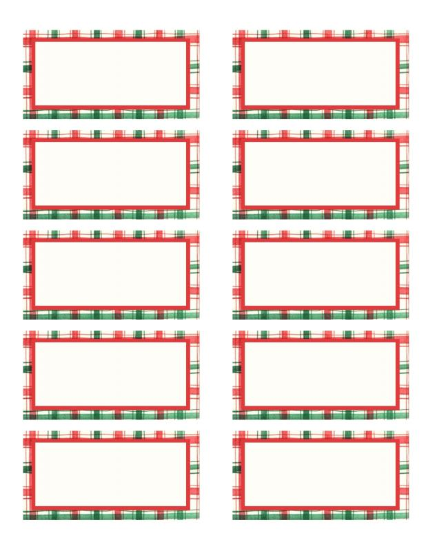 Christmas Label Templates  Template Business