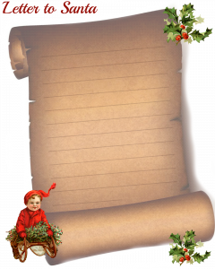 christmas letter paper letter to santa by glenda of glendas world