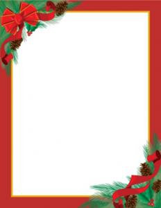 christmas letter templates pinecones ribbons christmas letterhead geographics l