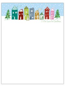 christmas letter templates wintry neighbourhood christmas letter template