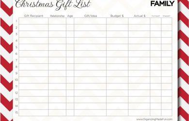 christmas list printable familychristmaslistorganizer