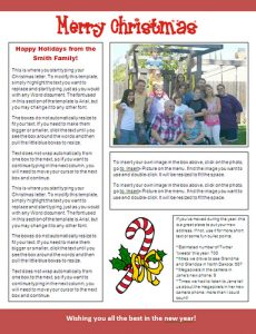 christmas newsletter template afcfc