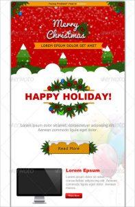christmas newsletter template christmas e commerce newsletter template psd design