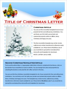 christmas newsletter template christmas holiday newsletter template