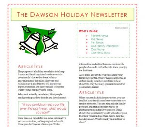 christmas newsletter template holiday newsletter template