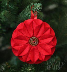 christmas ornaments templates felt poinsettia ornament