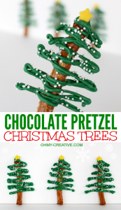 christmas tree printable chocolate pretzel christmas trees ohmy creative com