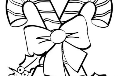 christmas tree printable christmas candy cane coloring pages